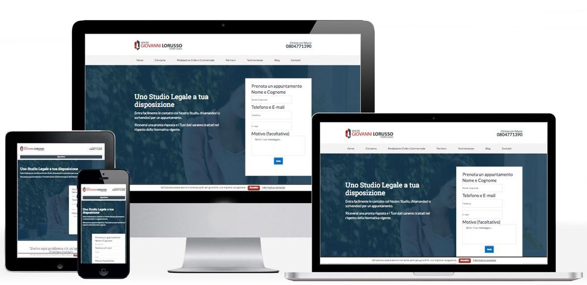 Realizzazione siti web responsive come quello in immagine